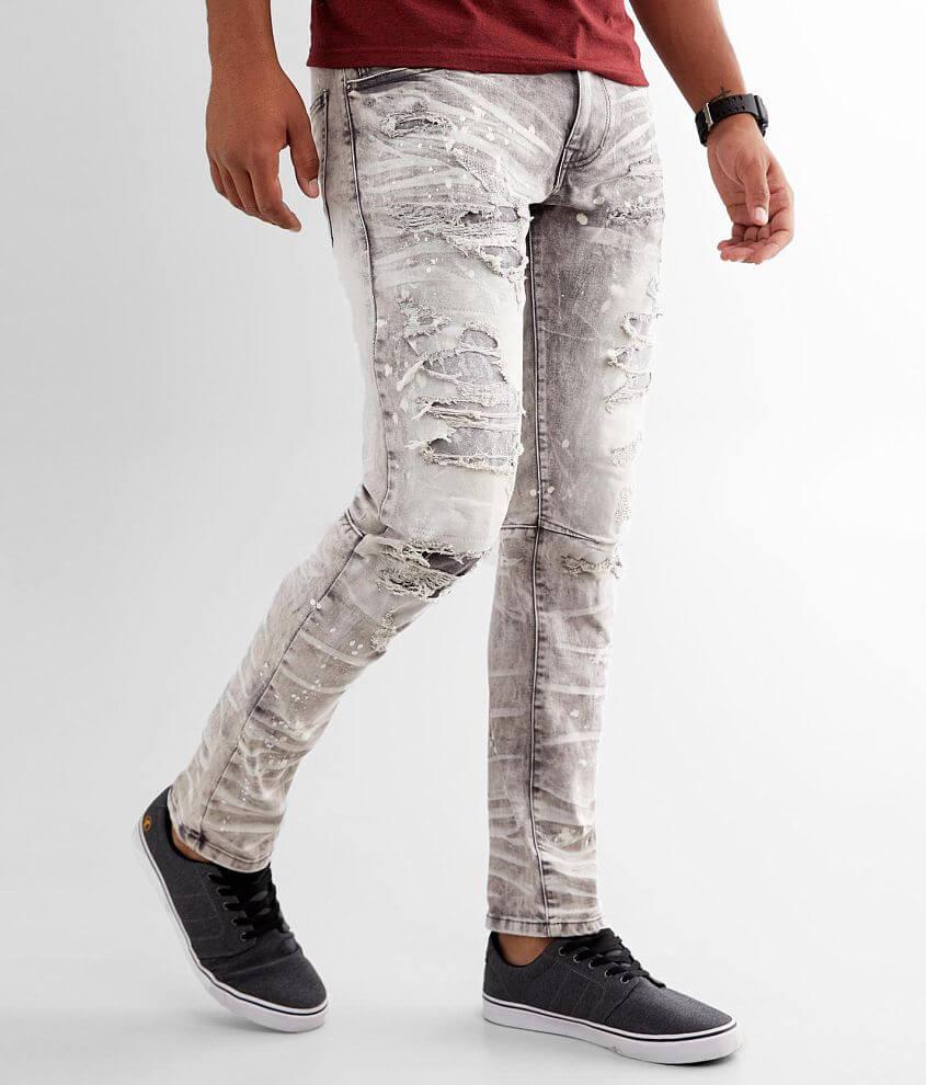 Smoke Rise® Moto Taper Stretch Jean front view