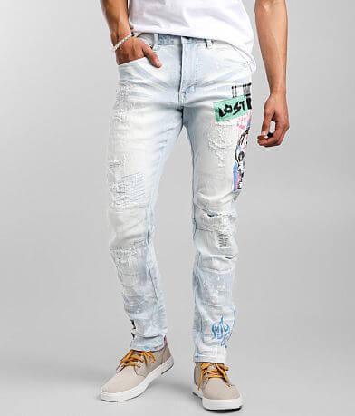 Smoke Rise® Speckle Taper Stretch Jean