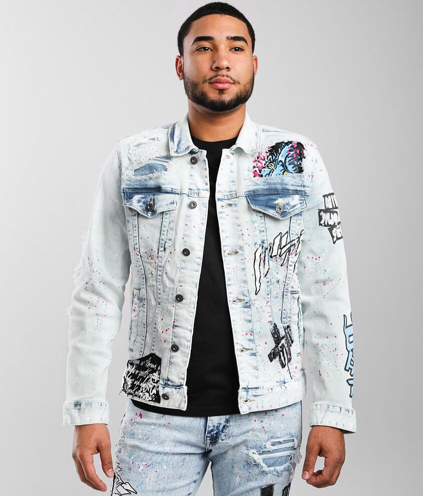 Smoke Rise® Illusion Denim Stretch Jacket front view
