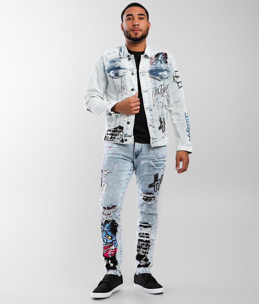 Smoke Rise® Illusion Taper Stretch Jean front view