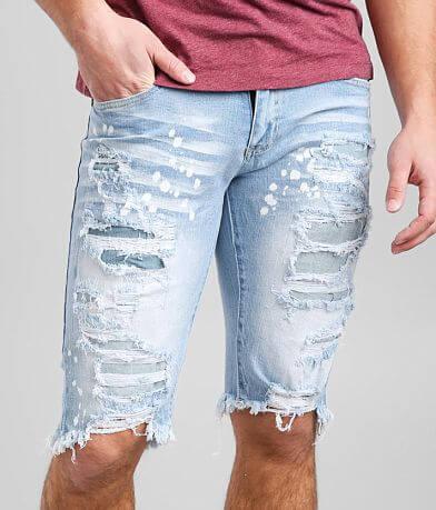 Smoke Rise® Speckle Blue Stretch Short