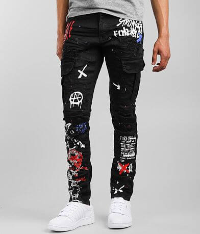 Smoke Rise® Taper Cargo Stretch Jean