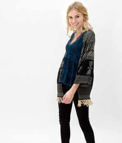 Gimmicks Fringe Cardigan Sweater