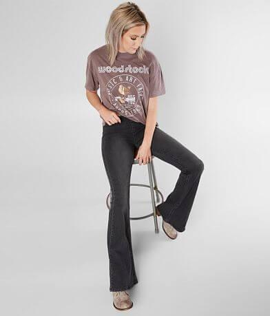Newbury Kustom Mid-Rise Flare Stretch Jean
