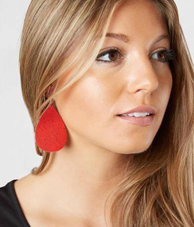 Nichole Lewis Designs Cork Leather Earring
