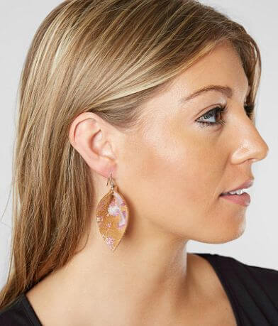 Nichole Lewis Designs Watercolor Leather Earring