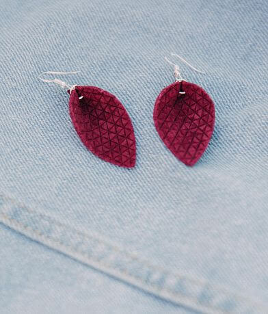 Nichole Lewis Designs Textured Leather Earring