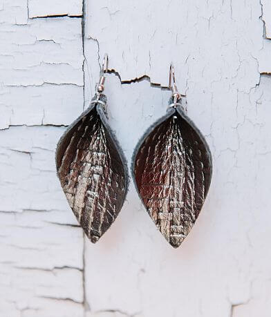 Nichole Lewis Designs Pinched Leather Earring