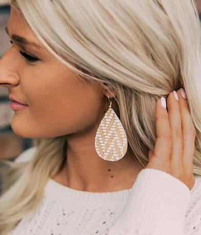 Nichole Lewis Designs Metallic Leather Earring