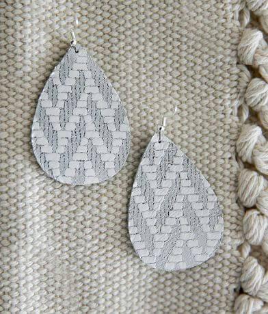 Nichole Lewis Designs Chevron Leather Earring
