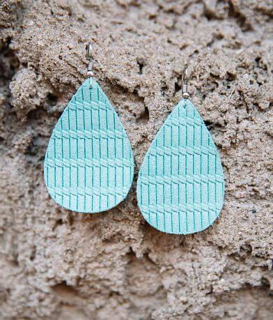 Nichole Lewis Designs Weaved Leather Earring