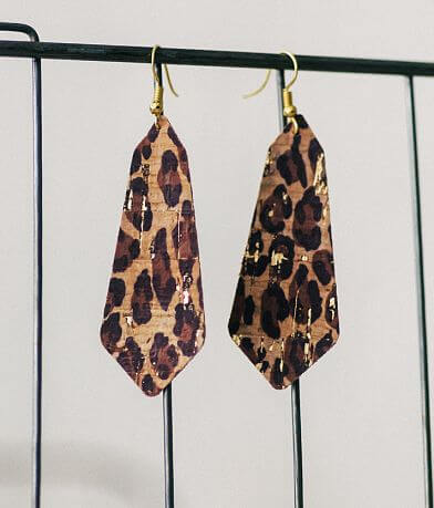 Nichole Lewis Designs Metallic Cheetah Earring