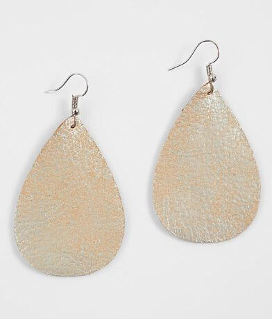 Nichole Lewis Designs Metallic Leather Earring