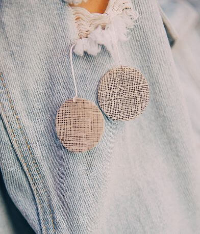 Nichole Lewis Designs Round Leather Earring