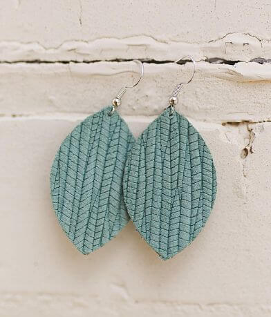 Nichole Lewis Designs Mini Leather Leaf Earring