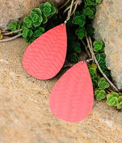 Nichole Lewis Textured Leather Earring