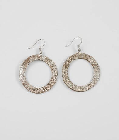 Nichole Lewis Designs Cut-Out Leather Earring