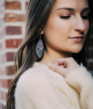 Nichole Lewis Designs Layered Leather Earring