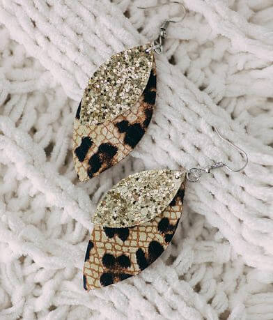 Nichole Lewis Designs Leopard Leather Earring