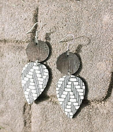 Nichole Lewis Designs Double Drop Leather Earring