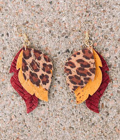 Nichole Lewis Designs Stacked Leather Earring