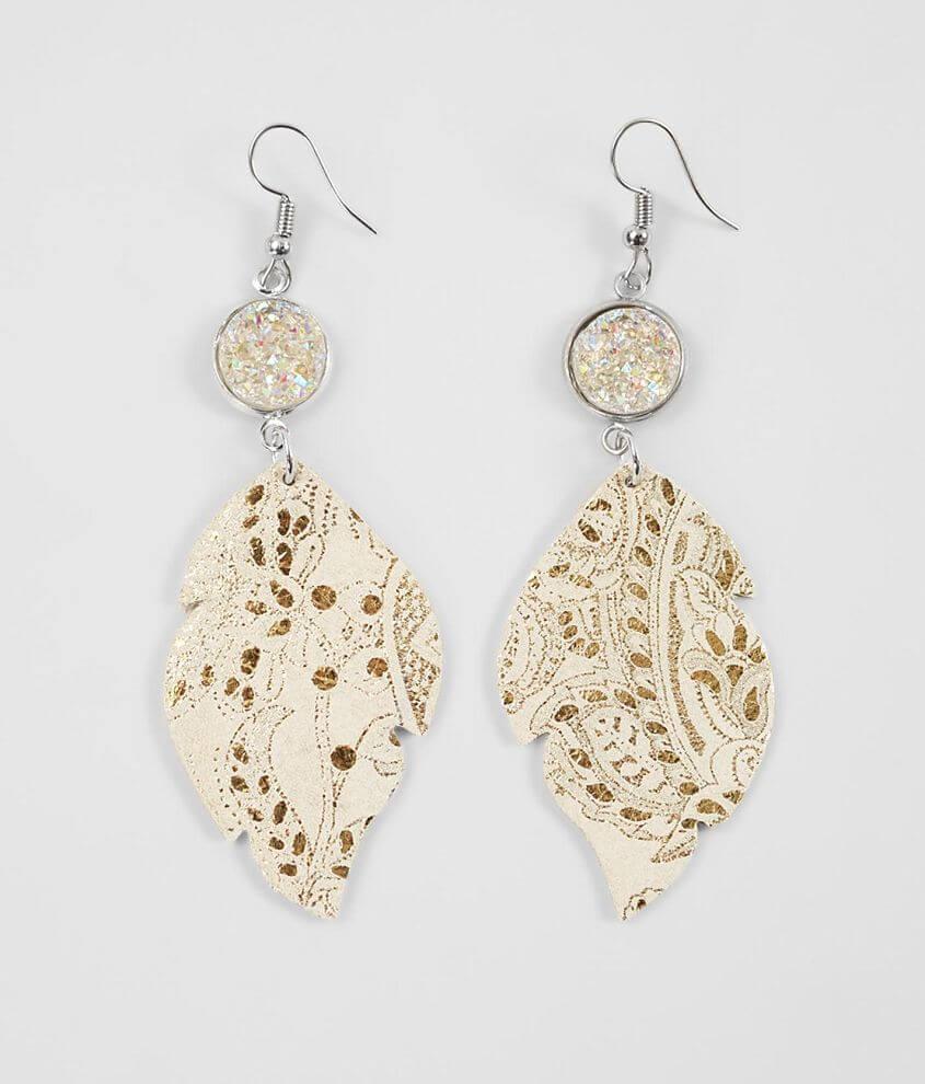 Shop All Brill Boutique Foiled drop earring Drop measures 3 1/4\\\