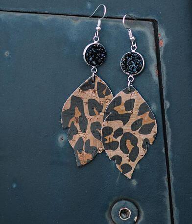 Nichole Lewis Designs Leopard Cork Earring
