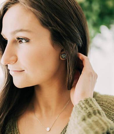 Nichole Lewis Designs Hematite Druzy Earring