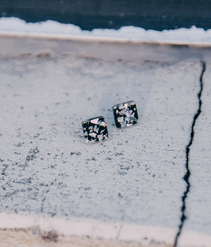Shop All Brill Boutique Square stud earring Measures 3/8\\\