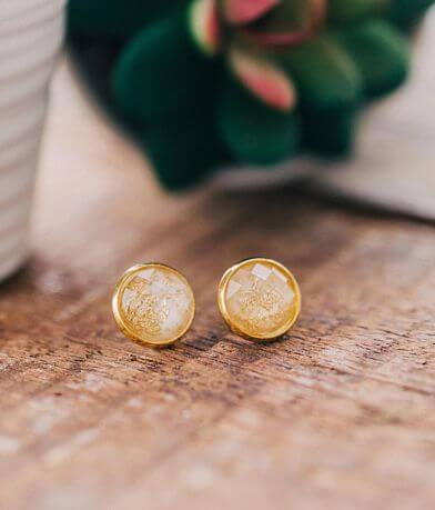 Nichole Lewis Designs Gold Foil Druzy Earring