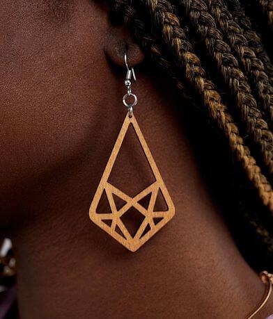 Nichole Lewis Designs Geometric Wood Earring