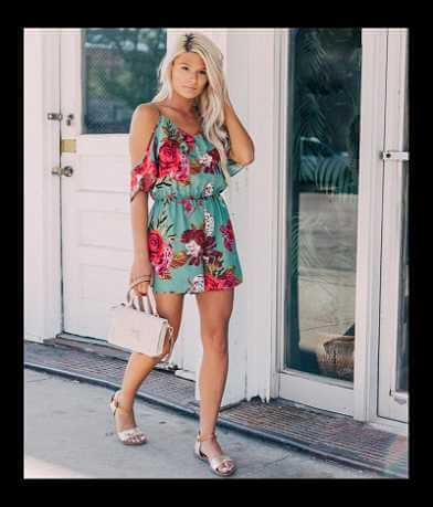 willow & root Cold Shoulder Romper