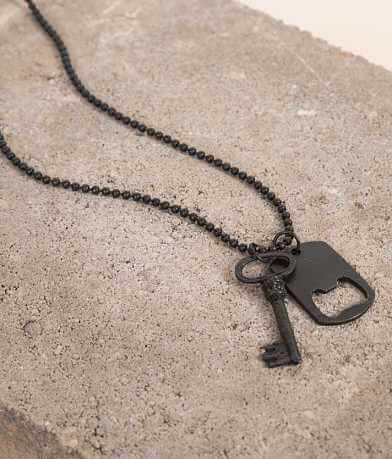 BKE Dog Tag & Key Necklace