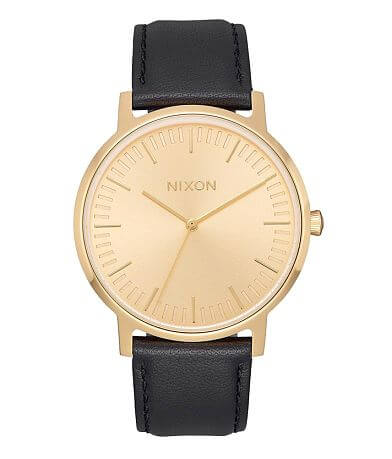 Nixon The Port Leather Watch