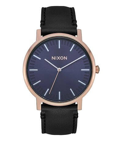 8b95e2c2d3e Nixon The Porter Leather Watch