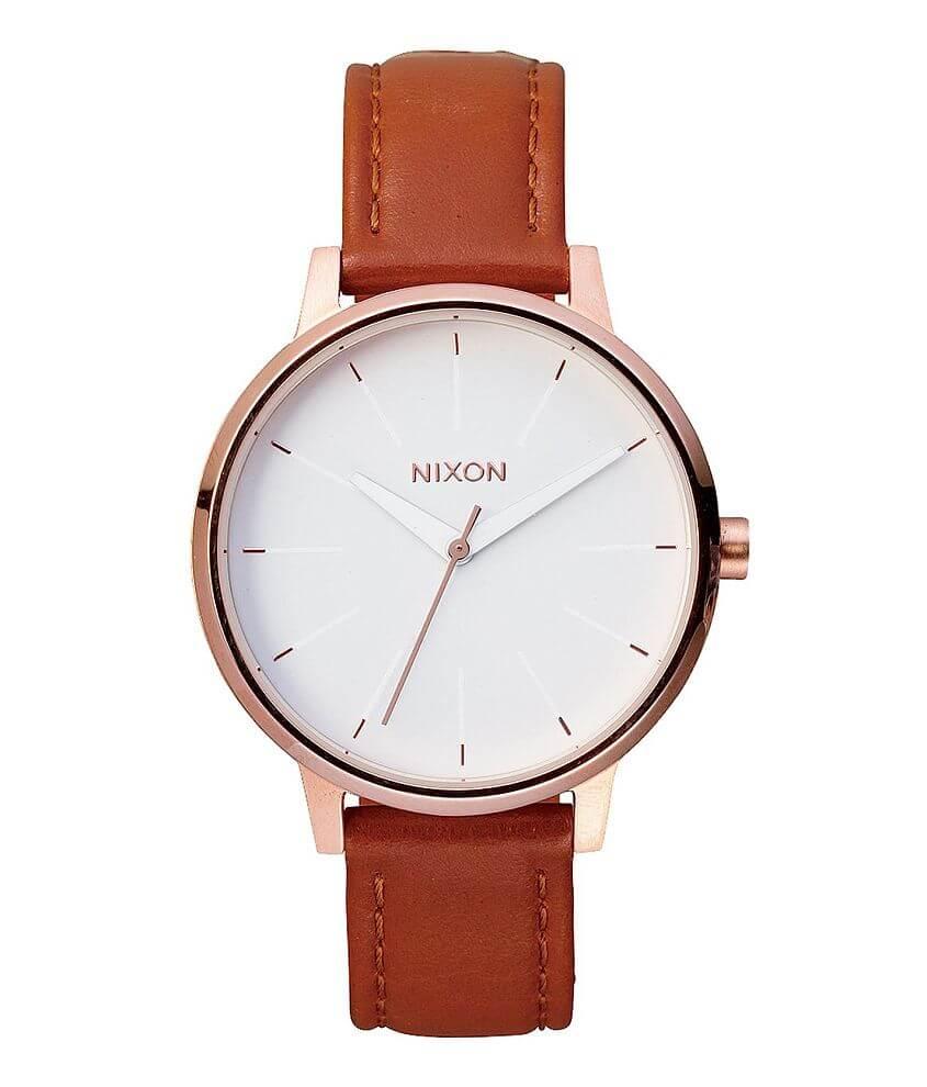 Nixon The Kensington Leather Watch front view