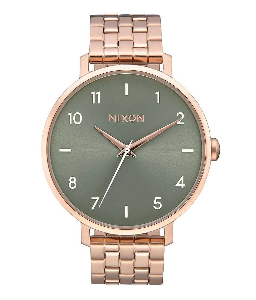 1274ea07920201 Nixon The Arrow Watch - Women's Accessories in Rose Gold Sage | Buckle