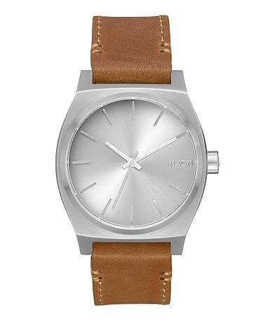 Nixon The Time Teller Leather Watch Gift Set