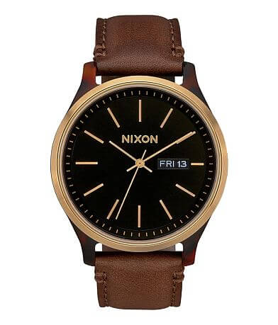 Nixon The Sentry Luxe Leather Watch