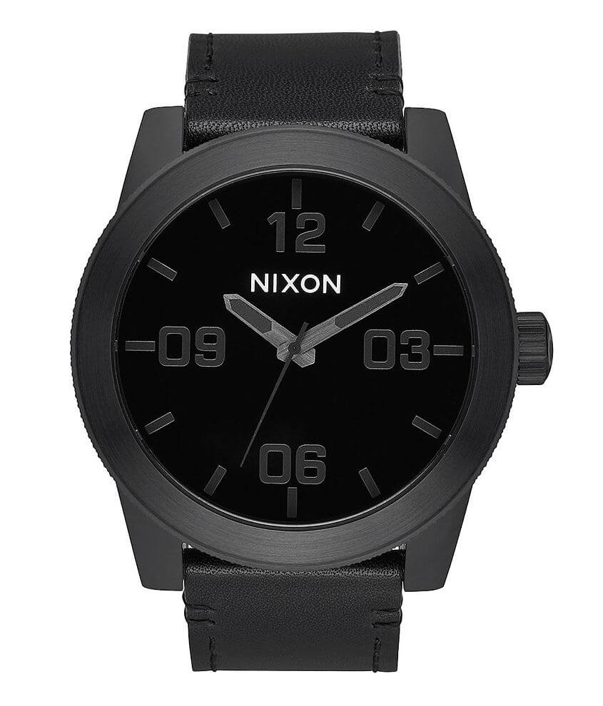 Nixon The Corporal Leather Watch front view