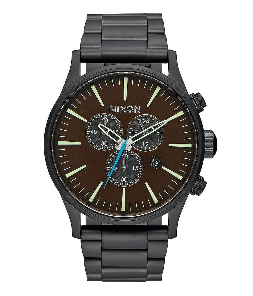 Nixon The Sentry Chrono Watch front view