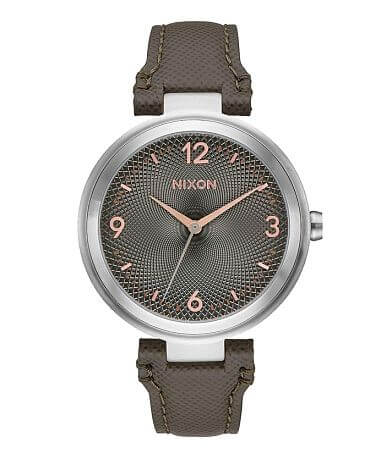 Nixon The Chameleon Leather Watch