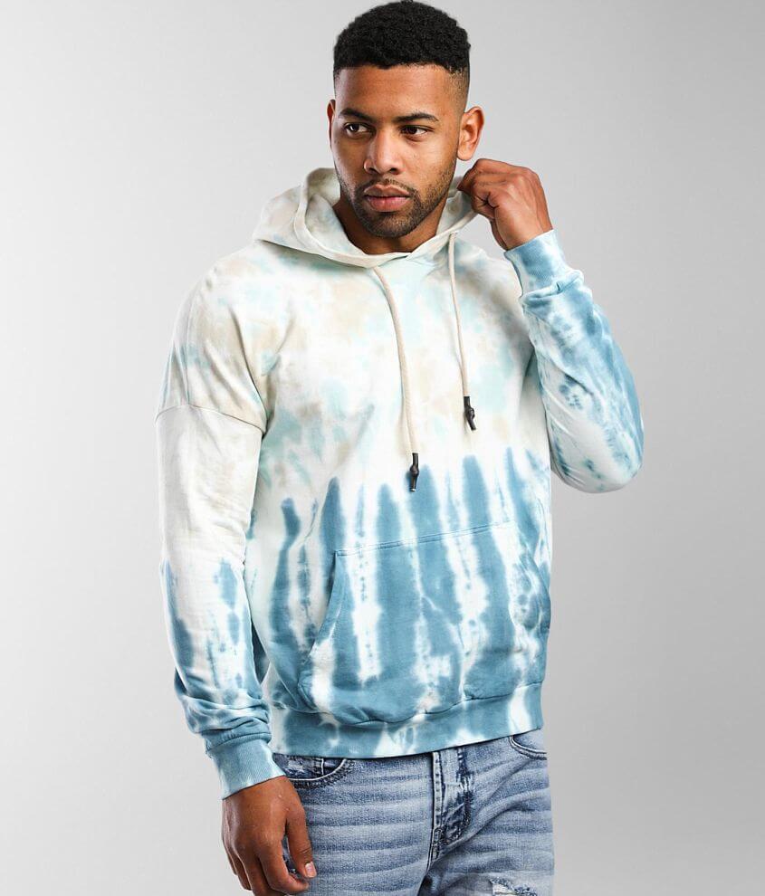 Elevenparis Bluestone Marble Hooded Sweatshirt front view