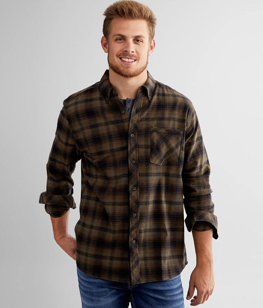 North River® Flannel Plaid Shirt front view