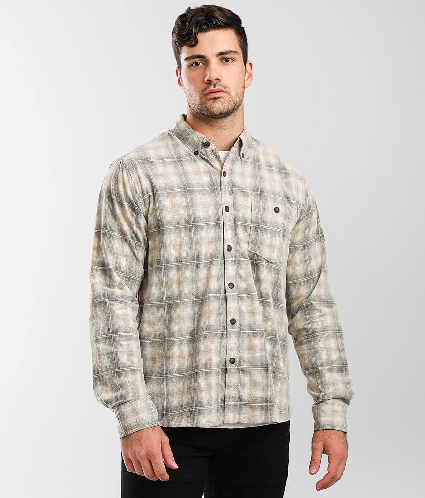 North River® Oatmeal Corduroy Shirt front view