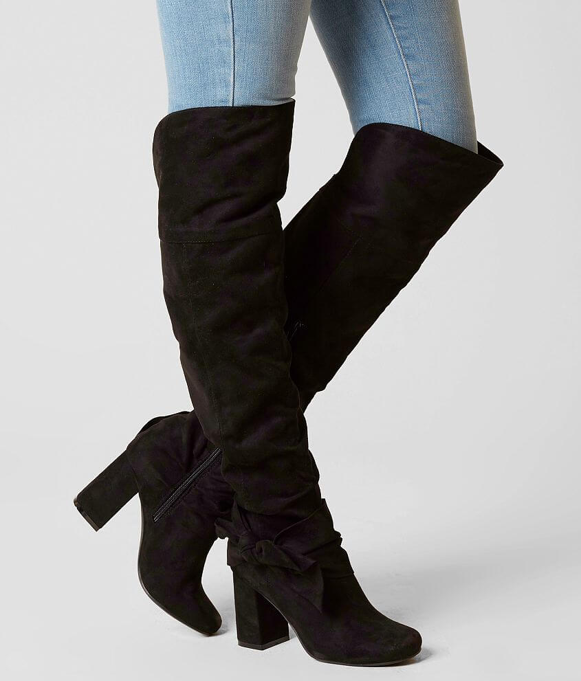 Style TOTORO/Sku 943844 Faux suede side zip boot Tall 22\\\