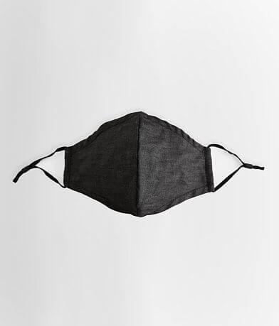Black Chambray Face Mask