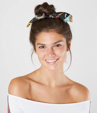 BKE Printed Hair Bow Scrunchie