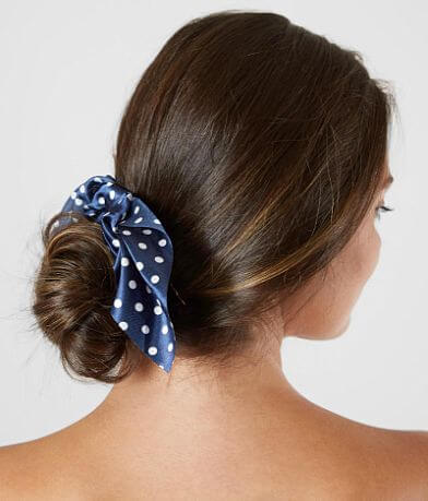 BKE Polka Dot Hair Bow Scrunchie
