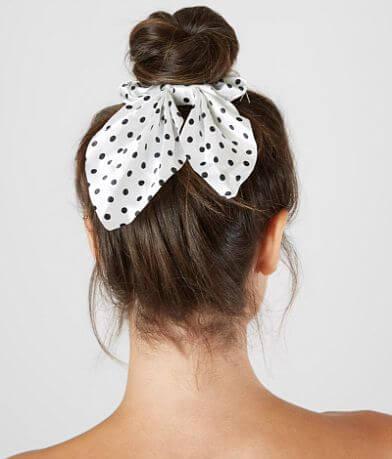 BKE Polka Dot Hair Bow Scrunchie